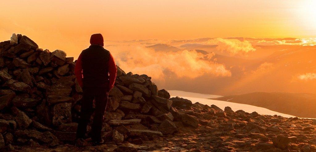 Ben Alder summit dawn