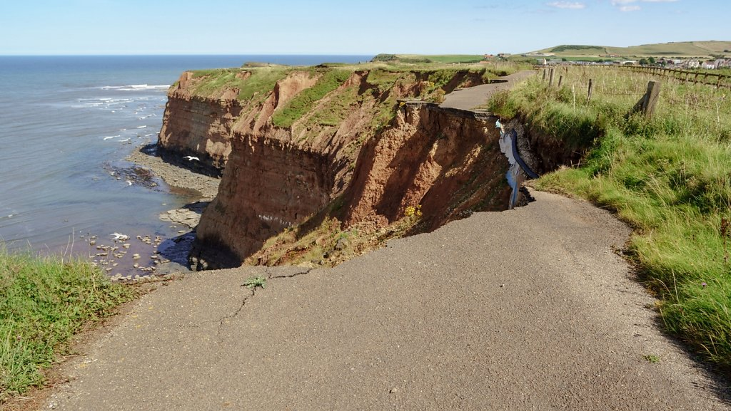 Sea-claimed road