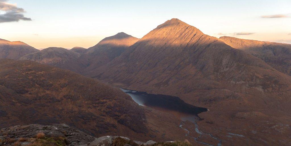 Loch na Creitheach and Bla Bheinn from Sgurr na Stri