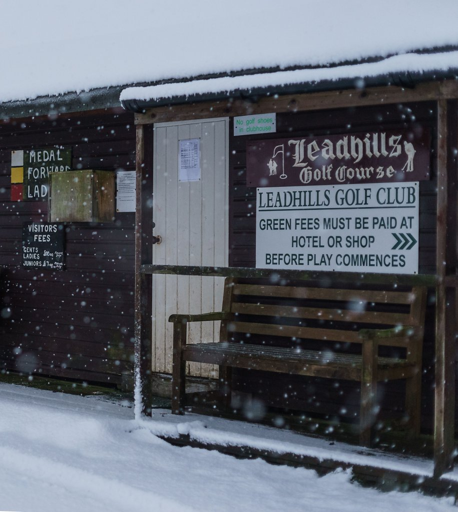 Leadhills golf course hut