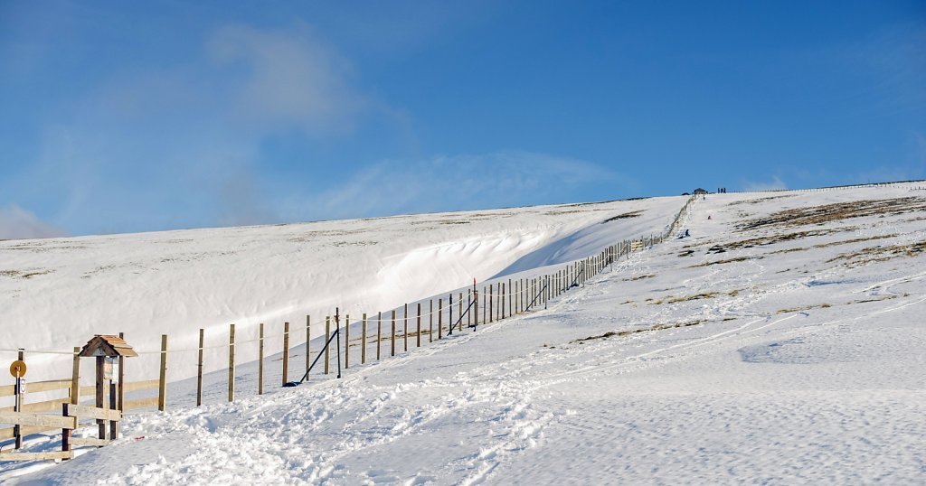 Bottom of Lowther rope tow
