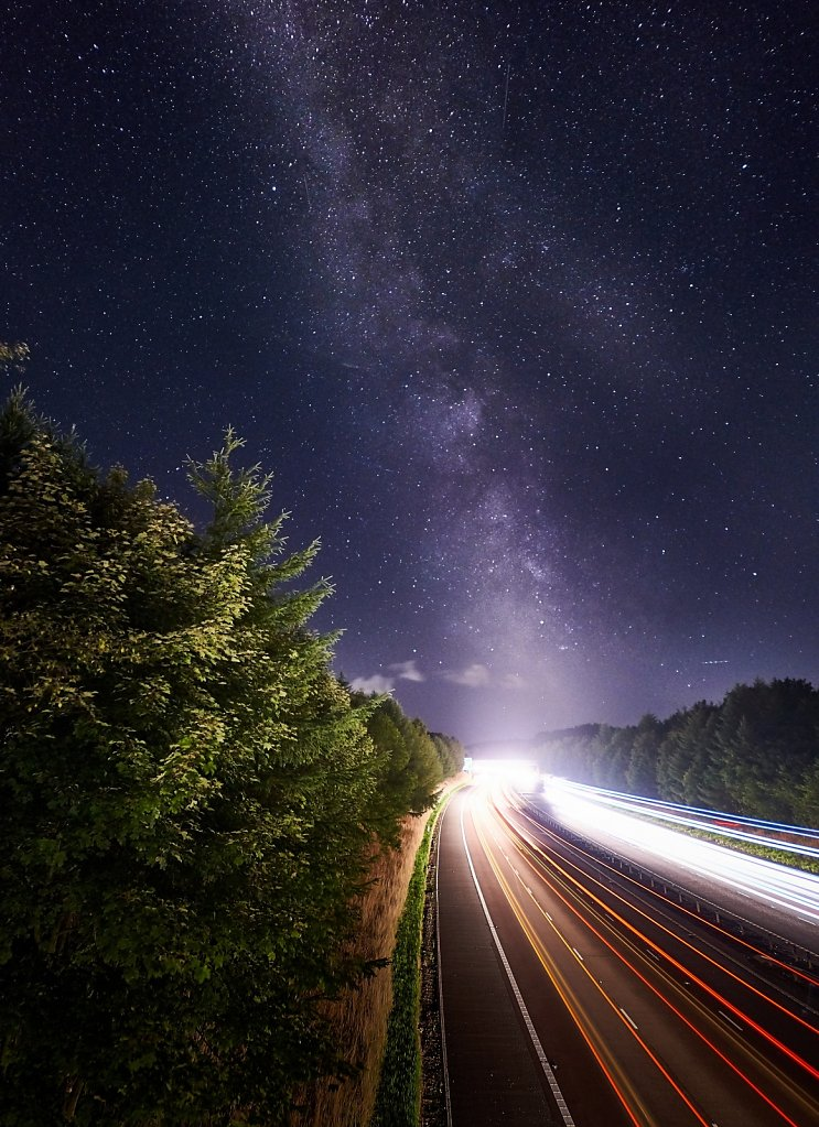 Milky Way over M74 near Johnstonbridge