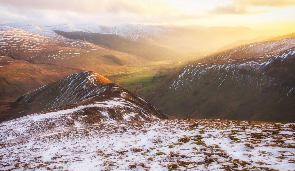 Winter sunset in Moffat Dale
