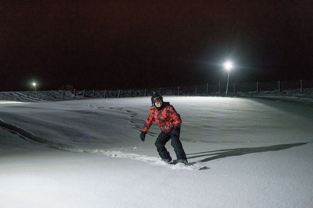 First tracks on Friday evening