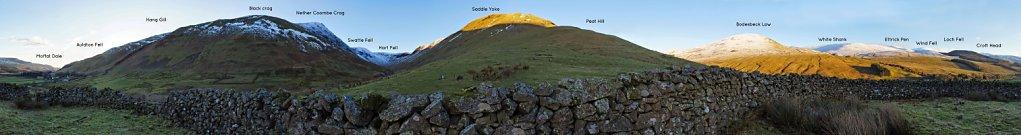 360 degrees from inside a circular sheepfold near Capplegill, Blackhope