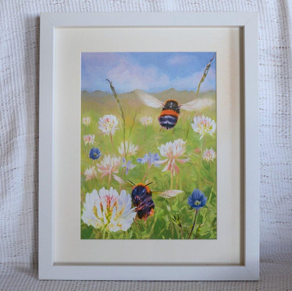 Bumblebees framed